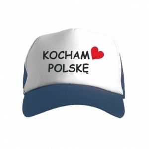 Kid's Trucker Hat I love Poland
