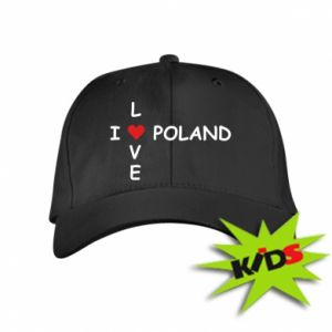 Dziecięca czapeczka z daszkiem I love Poland crossword