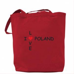 Torba I love Poland crossword - PrintSalon