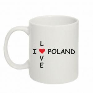 Mug 330ml I love Poland crossword