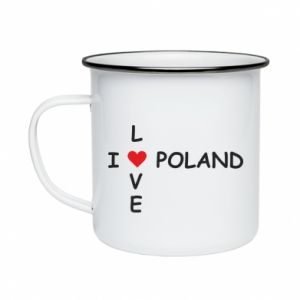 Enameled mug I love Poland crossword