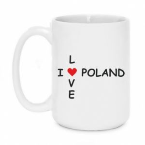 Mug 450ml I love Poland crossword