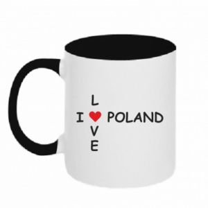 Kubek dwukolorowy I love Poland crossword - PrintSalon