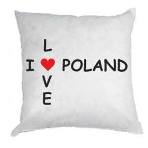 Pillow I love Poland crossword