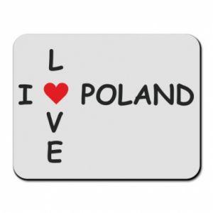 Podkładka pod mysz I love Poland crossword - PrintSalon
