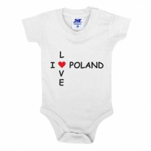 Baby bodysuit I love Poland crossword