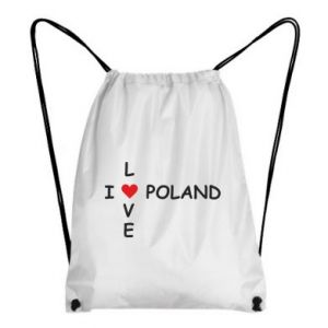 Plecak-worek I love Poland crossword - PrintSalon