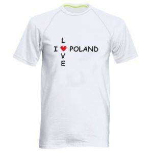 Men's sports t-shirt I love Poland crossword