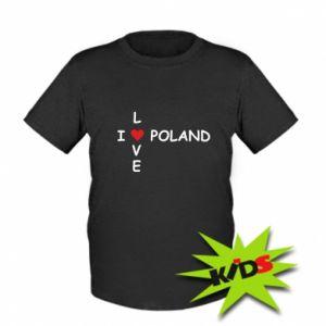Dziecięcy T-shirt I love Poland crossword - PrintSalon
