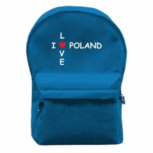 Backpack with front pocket I love Poland crossword