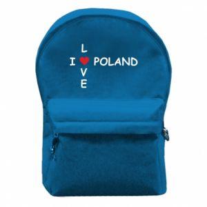 Plecak z przednią kieszenią I love Poland crossword - PrintSalon