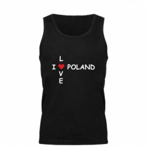 Męska koszulka I love Poland crossword - PrintSalon