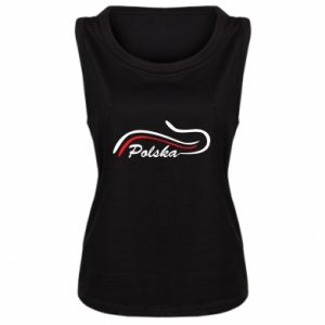 Damska koszulka Kocham, Polskę - PrintSalon