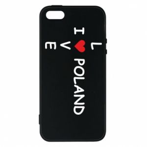 Phone case for iPhone 5/5S/SE I love Poland crossword