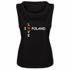 Women's t-shirt I love Poland crossword