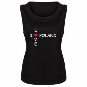 Damska koszulka bez rękawów I love Poland crossword