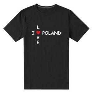 Męska premium koszulka Kocham Polskę - PrintSalon