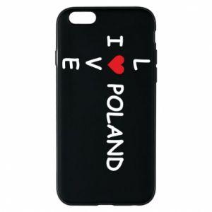 iPhone 6/6S Case I love Poland crossword