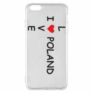 Etui na iPhone 6 Plus/6S Plus I love Poland crossword - PrintSalon