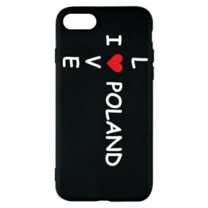 Phone case for iPhone 7 I love Poland crossword
