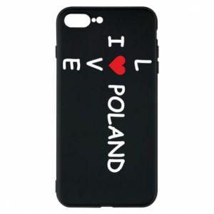 iPhone 7 Plus case I love Poland crossword