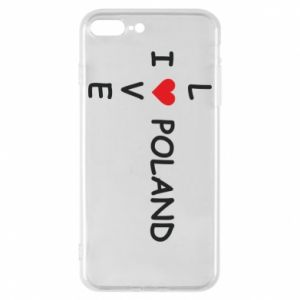 Phone case for iPhone 8 Plus I love Poland crossword