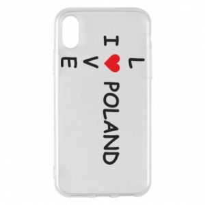 Phone case for iPhone X/Xs I love Poland crossword