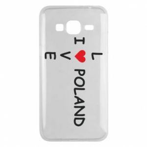 Etui na Samsung J3 2016 I love Poland crossword