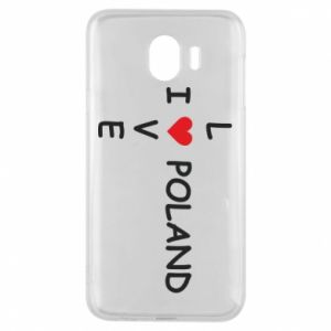 Phone case for Samsung J4 I love Poland crossword