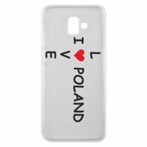 Etui na Samsung J6 Plus 2018 I love Poland crossword - PrintSalon