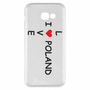 Samsung A5 2017 Case I love Poland crossword
