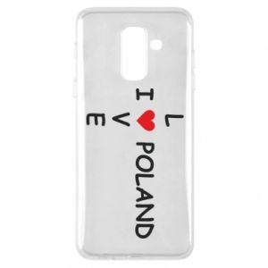 Phone case for Samsung A6+ 2018 I love Poland crossword