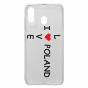 Etui na Samsung A20 I love Poland crossword