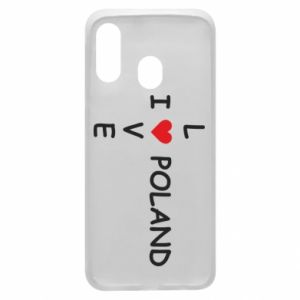 Phone case for Samsung A40 I love Poland crossword