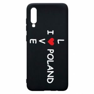 Phone case for Samsung A70 I love Poland crossword