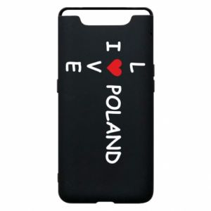 Phone case for Samsung A80 I love Poland crossword