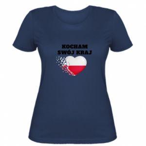 Koszulka damska Kocham swój kraj