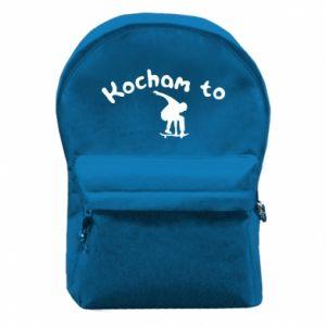 Plecak z przednią kieszenią Kocham to - PrintSalon
