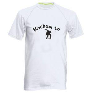 Męska koszulka sportowa Kocham to - PrintSalon