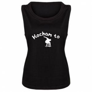 Damska koszulka Kocham to - PrintSalon