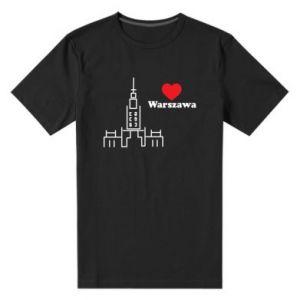 Men's premium t-shirt Warsaw I love you