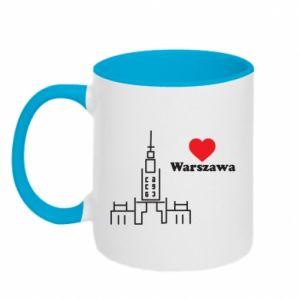Kubek dwukolorowy Warszawa kocham cię