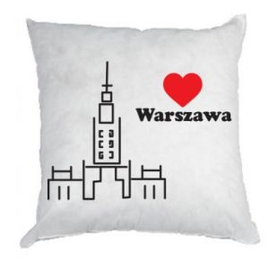 Poduszka Warszawa kocham cię