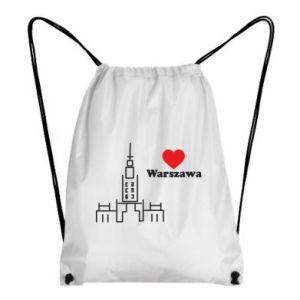 Plecak-worek Warszawa kocham cię