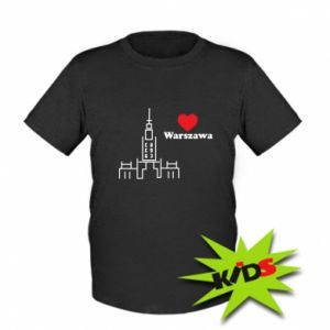 Kids T-shirt Warsaw I love you