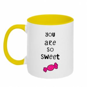 Two-toned mug You are so sweet - PrintSalon