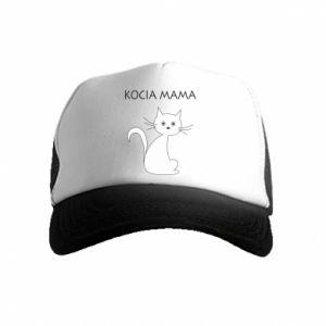 Kid's Trucker Hat Cats mother