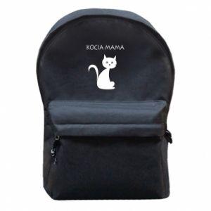 Plecak z przednią kieszenią Kocia mama