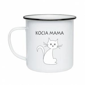 Enameled mug Cats mother