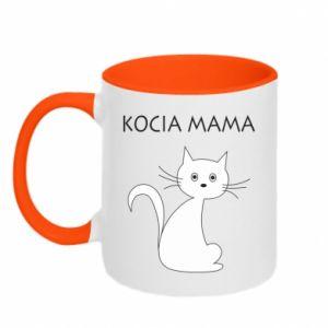 Kubek dwukolorowy Kocia mama